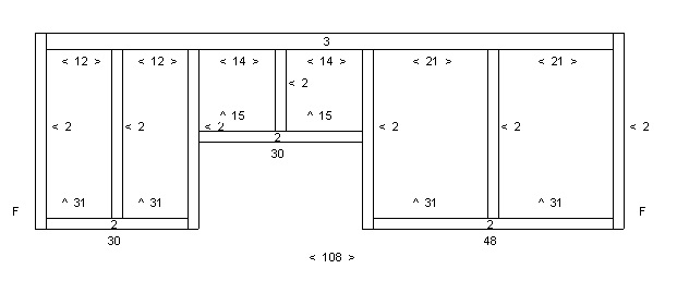 Combined cabinets shop drawing