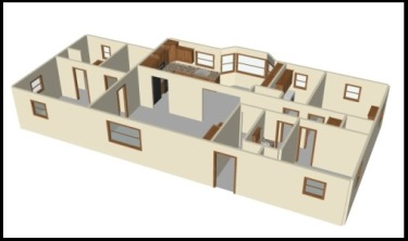 Sample rendering of a complete house
